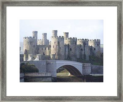 Framed Print featuring the photograph Conwy Castle by Christopher Rowlands
