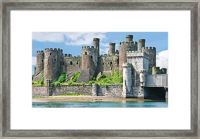 Conwy Castle Wales Framed Print by Jane McIlroy