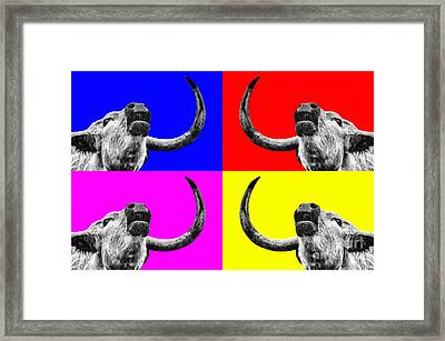 Coo Pop Art Too Framed Print by John Farnan