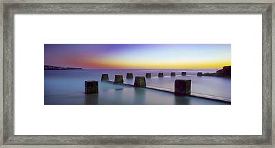 Coogee Baths Australia Framed Print by Mike Banks
