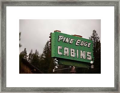 Cook City Cabins Framed Print