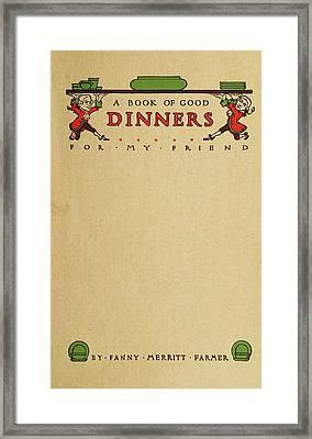 Cookbook, 1914 Framed Print