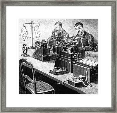 Cooke And Wheatstone Telegraph Framed Print