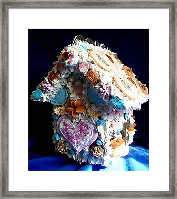 Cookie Birdhouse Sculpture Framed Print by Kathleen Luther