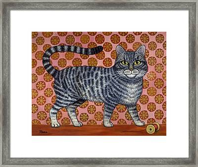 Cookie Cat Framed Print by Linda Mears