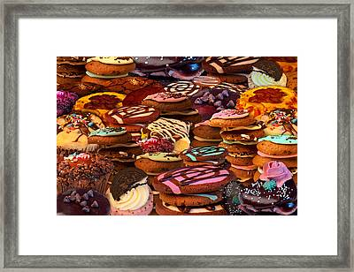 Cookie Crazy Framed Print by Alixandra Mullins