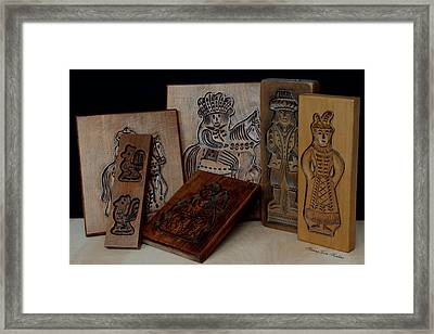 Cookie Mold Collection 2 Framed Print