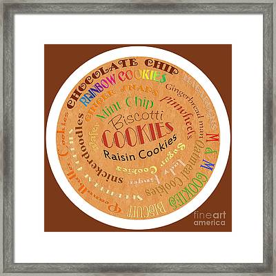 Cookie Typography Framed Print by Andee Design