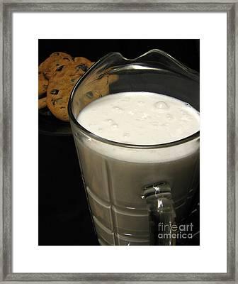 Cookies And Milk Framed Print by Peter Piatt
