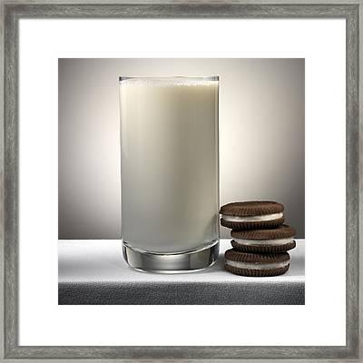 Cookies And Milk Framed Print by Robert Mollett
