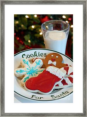 Cookies For Santa  Framed Print by Amy Cicconi