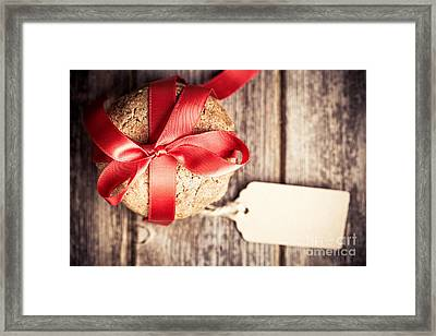 Cookies With Tag Retro Framed Print