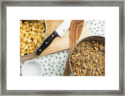 Cooking Apple Crumble Framed Print by Charlotte Lake