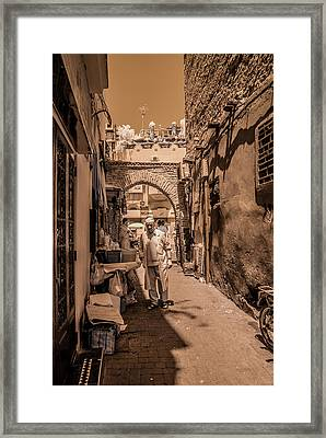 Cooking On The Streets Of Marrakech Framed Print