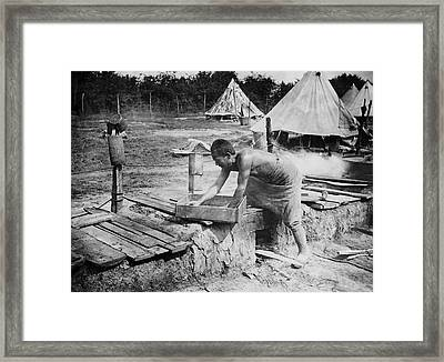 Cooking On The Western Front Framed Print