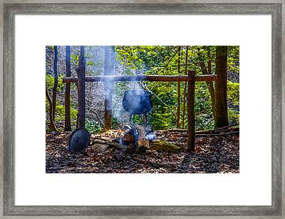 Cooking Pot Kettle Framed Print