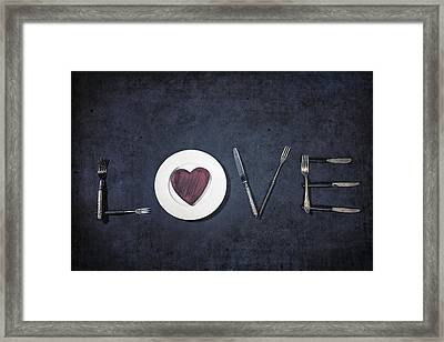 Cooking With Love Framed Print by Joana Kruse