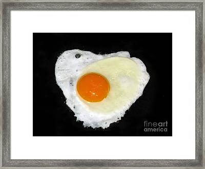 Cooking With Love Series. Breakfast For The Loved One Framed Print by Ausra Huntington nee Paulauskaite
