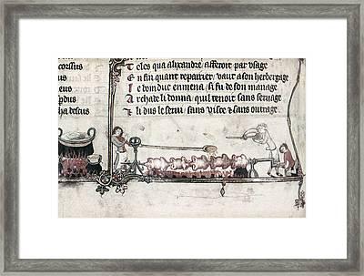 Cooks, 14th Century Framed Print by Granger