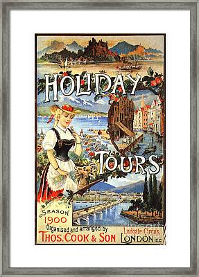 Cook�s 1890s Uk Holidays Holiday Framed Print by The Advertising Archives