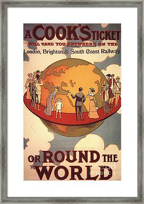 Cook�s 1890s Uk Holidays Thomas Cook Framed Print by The Advertising Archives