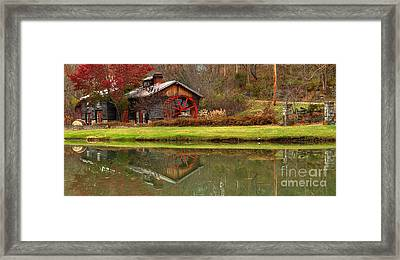 Cook's Mill Forge Building Panorama Framed Print by Adam Jewell