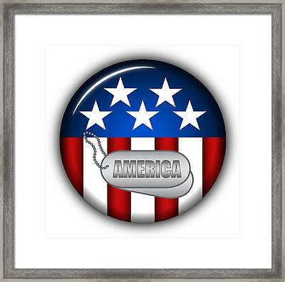 Cool America Insignia Framed Print by Pamela Johnson