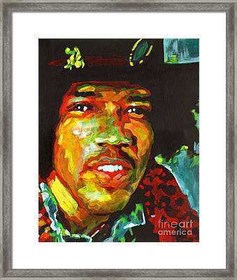 Jimi Hendrix. Voodoo Child Framed Print