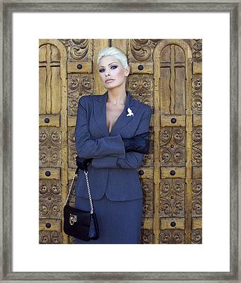 Cool Blonde Palm Springs Framed Print