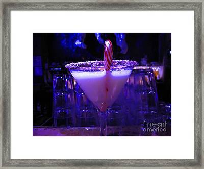 Cool Blue Cocktail Framed Print by Kym Backland
