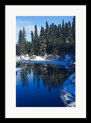 Snowy Brook Digital Art Framed Prints