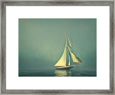 Cool Blue Sea Framed Print by Lonnie Christopher