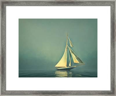 Cool Blue Sea Framed Print