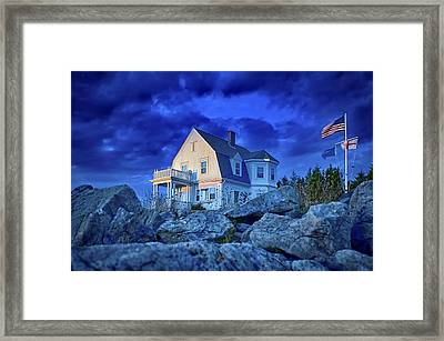 Cool Blue Storm Parting Framed Print