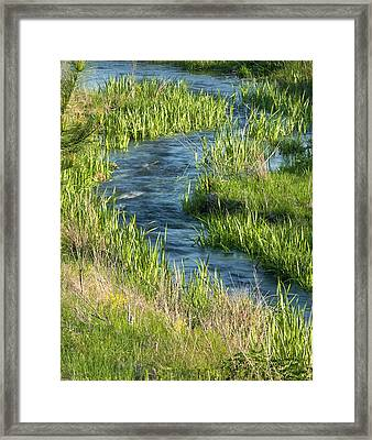 Cool Blue Water Framed Print