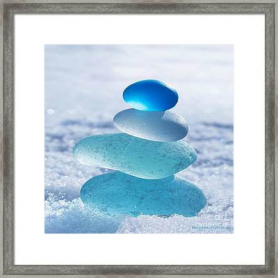 Cool Blues Framed Print by Barbara McMahon