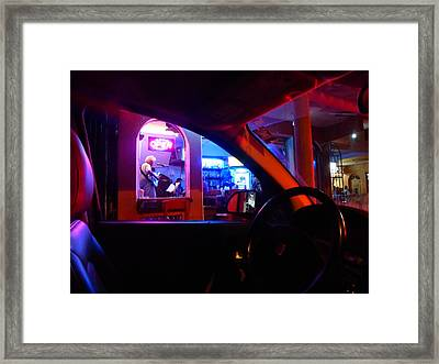 Playing The Bar Framed Print