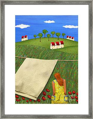 Framed Print featuring the sculpture Cool Breeze by Anne Klar