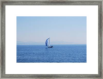 Cool Breeze Framed Print by George Katechis