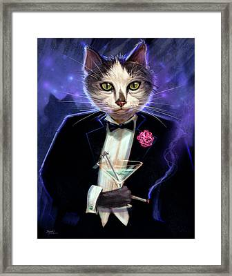 Cool Cat Framed Print by Jeff Haynie