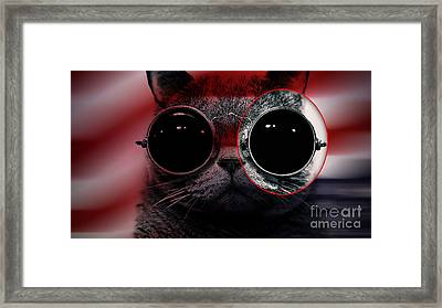 Cool Cat Painting Framed Print