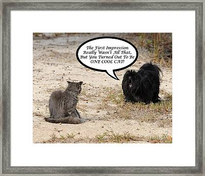 Cool Cat Rhyme Greeting Card Framed Print
