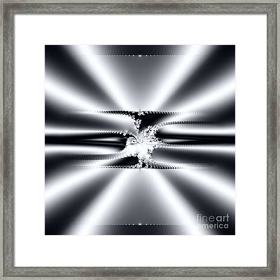 Cool Clean Stainless . Fractal Framed Print by Renee Trenholm