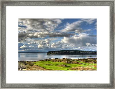 Framed Print featuring the photograph Cool Clouds - Chambers Bay Golf Course by Chris Anderson