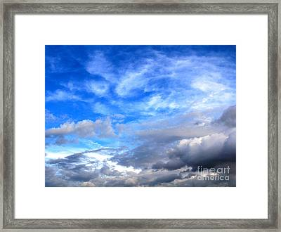 Cool Clouds Framed Print by Jay Nodianos