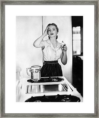 Cool Cologne For The Kitchen Framed Print by Underwood Archives