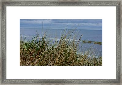 Cool Day At The Beach Framed Print by Rosemarie E Seppala
