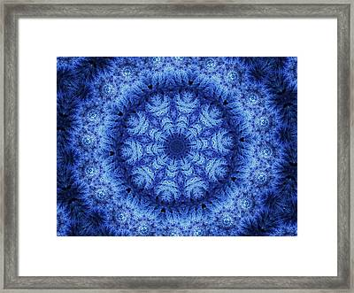 Framed Print featuring the digital art Cool Down Series #1 Snowflake by Lilia D