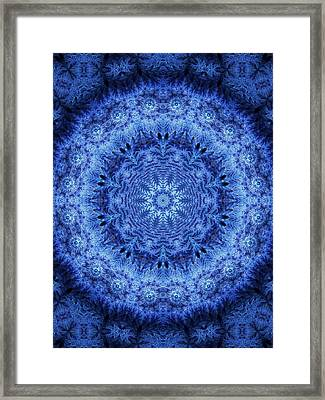 Framed Print featuring the digital art Cool Down Series #2 Frozen by Lilia D