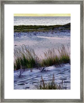 Cool Dunes At Sunset Framed Print by Michelle Calkins
